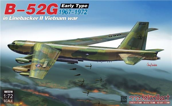 Picture of B-52G early type in Linebacker II Vietnam war 1967-1972